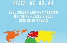 Montessori Puzzle Maps   7 Continents Of The World | Montessori   7 Continents Printable Puzzle