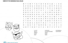 Mouth Monster Themed Crossword Puzzle & Word Search   The Big   Printable Dental Puzzles