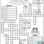 Multiplication Facts Crossword Puzzle  Third Grade Students Love   4Th Grade Printable Crossword Puzzles