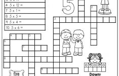 Multiplication Facts Crossword Puzzle  Third Grade Students Love   5Th Grade Crossword Puzzles Printable