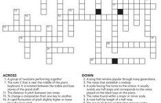 Music Crossword Puzzle Activity   Printable Crossword #5