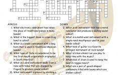 Musical Instruments Crossword Puzzle Worksheet Esl Fun Games Have Fun!   Printable Esl Crossword Worksheets