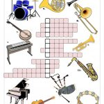 Musical Instruments Crossword Worksheet   Free Esl Printable   Printable Crosswords Music