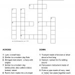 Musical Instruments Of The Bible Crossword Puzzle   Printable Music Crossword Puzzles