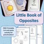 My Little Book Of Opposites {Free Printable!} | Homeschooling   Printable Opposite Puzzles