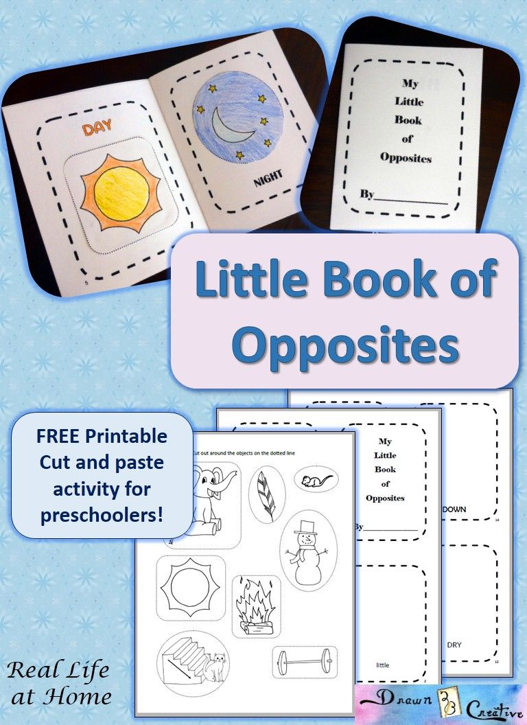 My Little Book Of Opposites {Free Printable!} | Homeschooling - Printable Opposite Puzzles
