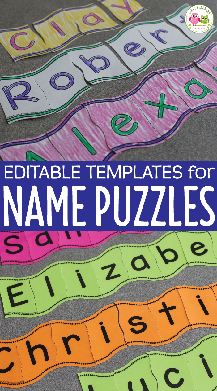 Name Activities | Editable Wavy Name Puzzles For Preschool & Pre-K - Printable Name Puzzles For Preschoolers
