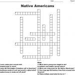 Native Americans Crossword   Wordmint   Native American Crossword Puzzle Printable