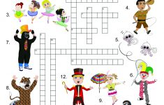 New! Exclusive Circus Printables! Coloring Pages And Crossword   Circus Crossword Puzzle Printables