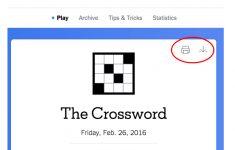 New York Times Crossword – Help   Printable Dropdown Puzzles