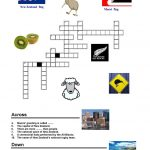 New Zealand   Crossword | Preschool :) | New Zealand, Worksheets   Printable Crossword Puzzles Nz