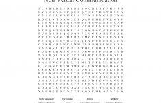 Non Verbal Communication Word Search   Wordmint   Printable Communication Crossword Puzzle