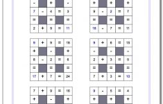 Number Grid Puzzles   Printable Number Puzzle