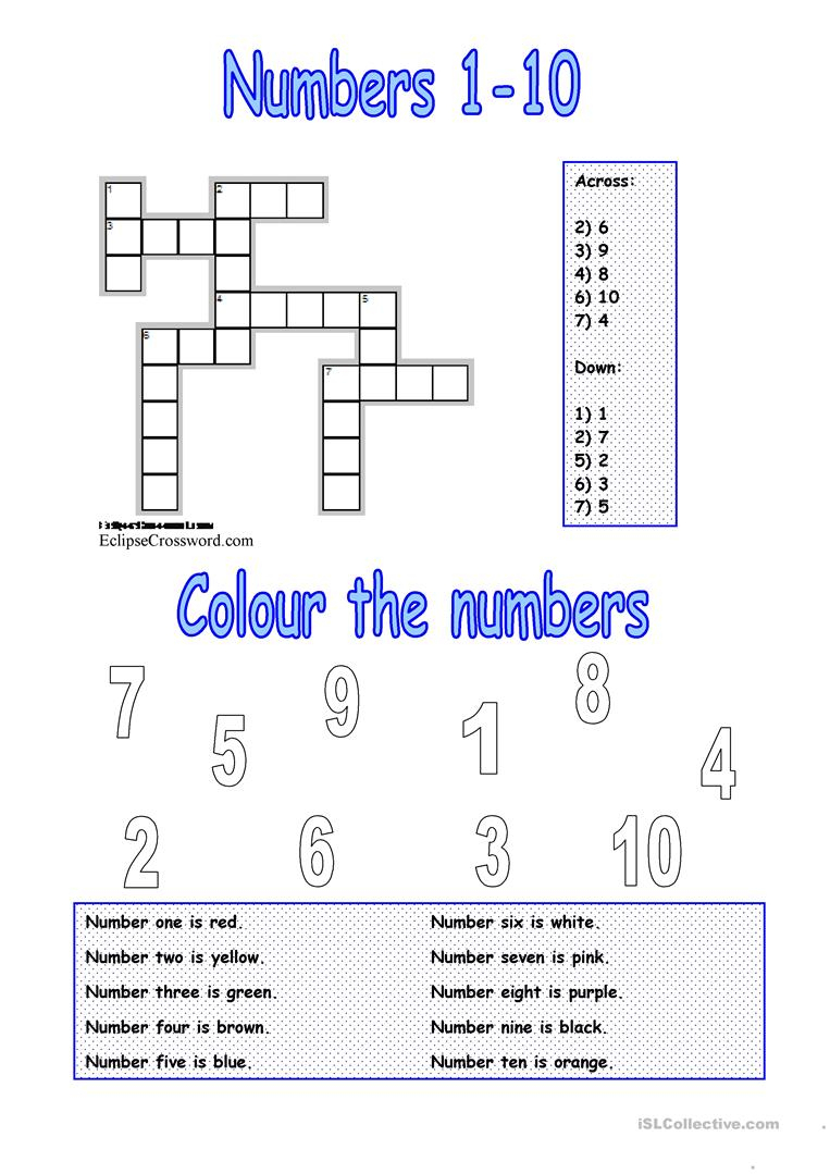 Numbers 1-10 Worksheet - Free Esl Printable Worksheets Madeteachers - Printable Number Puzzles 1-10