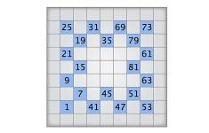 Numbrix 9   May 1 2009   Printable Numbrix Puzzles 2009