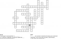 Nutrition Crossword Puzzle Crossword   Wordmint   Nutrition Printable Puzzle