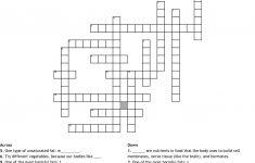 Nutrition Crossword Puzzle Crossword   Wordmint   Printable Nutrition Puzzles