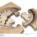 Old Fashioned Clock Print On Puzzle Pieces Stock Illustration   Print On Puzzle