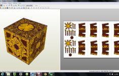 Papercraft .pdo File Template For Hellraiser – Puzzle Box.   Printable Hellraiser Puzzle Box
