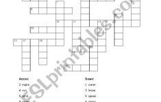 Past Tense Crossword Puzzle Review   Esl Worksheettorreym   Past Tense Crossword Puzzle Printable