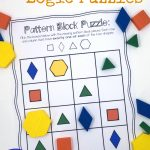 Pattern Block Puzzles {Free}   Free Printable 3D Puzzles