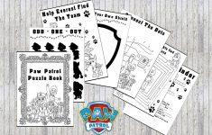 Paw Patrol Printable Puzzle Quiz Colouring Book Ideal   Etsy   Printable Puzzle Quiz