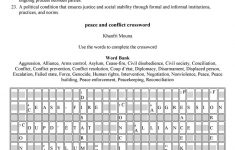 Peace And Conflict Crossword Worksheet   Free Esl Printable   Printable Conflict Resolution Crossword Puzzle
