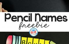 Pencil Names   Name Building Practice Printable     Printable Name Puzzles For Preschoolers