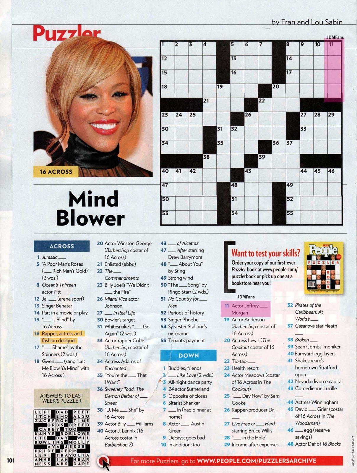 People Magazine Crossword Puzzles To Print | Puzzles In 2019 - Printable People Crossword Puzzles