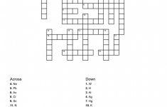 Periodic Table Crossword Puzzle Pdf New Chemistry Periodic Table   Printable Crossword Puzzle Pdf