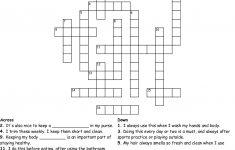 Personal Hygiene Crossword   Wordmint   Printable Personal Hygiene Crossword Puzzle