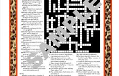 Personalized Printable Crossword Puzzle Featuring Fun Facts   Etsy   Baseball Crossword Puzzle Printable