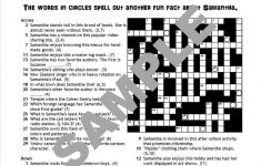 Personalized Printable Custom Crossword Puzzles For Teens. | Etsy   Printable Red Eye Crossword Puzzle