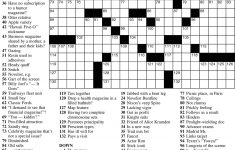 Photos: Printable Sunday Premier Crossword,   Coloring Page For Kids   Printable Frank Longo Crossword Puzzles