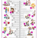 Phrasal Verbs Crossword Puzzle Worksheet   Free Esl Printable   Crossword Puzzle Verbs Printable