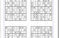 Pindadsworksheets On Math Worksheets | Sudoku Puzzles, Maths   Printable Sudoku Puzzles One Per Page