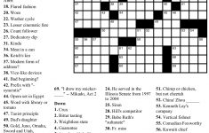 Pinjim Fraunberger On Crossword Puzzles | Printable Crossword   Printable Crossword Puzzle With Answers
