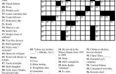 Pinjim Fraunberger On Crossword Puzzles   Printable Crossword   Printable Newspaper Crossword Puzzles