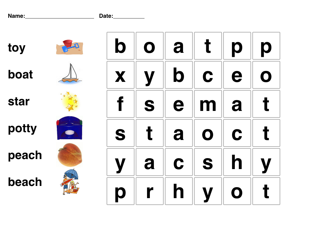 Pinmari On Phonetics | Word Puzzles For Kids, Kindergarten Word - Printable Crossword Puzzle For Kindergarten