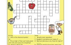Pinthe Kids Cook Monday On Activities | Printable Crossword   Printable Nutrition Puzzles For Adults