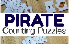 Pirate Printable Counting Puzzles For Kids   Look! We're Learning!   Printable Educational Puzzles