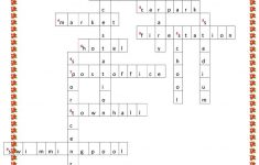 Places In Town Crossword Puzzle Worksheet – Free Esl Printable – Printable Skyscraper Puzzles