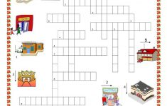 Places In Town Crossword Puzzle Worksheet   Free Esl Printable   Printable Spanish Crossword Puzzle