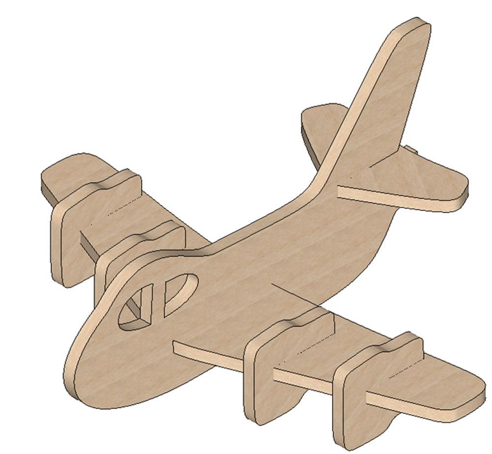 Plane Mini Puzzle - Mini Puzzles | Makecnc - Printable 3D Puzzle