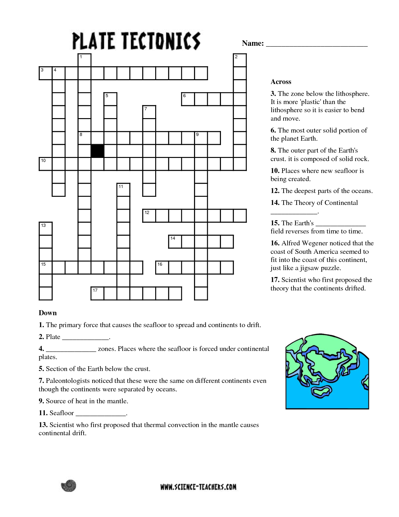 Planets Crossword Puzzle Worksheet - Pics About Space | Fun Science - Printable Ocean Crossword Puzzles