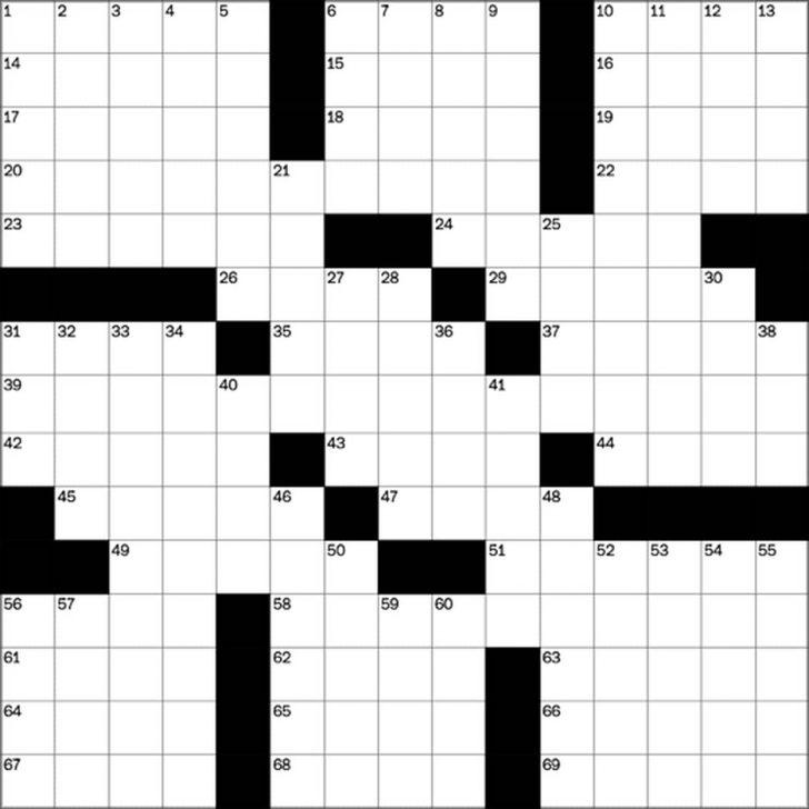 Free Printable Sunday Crossword Puzzles