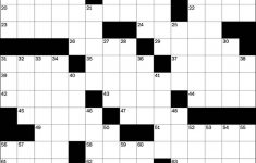Play Free Crossword Puzzles From The Washington Post   The   Printable Daily Crosswords For January 2018