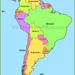 Political Map Of South America | Cool Map | South America Map, Latin   Printable Puzzle South America