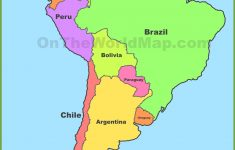 Political Map Of South America   Cool Map   South America Map, Latin   Printable Puzzle South America