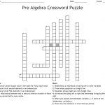 Pre Algebra Crossword Puzzle Crossword   Wordmint   Algebra Crossword Puzzle Printable